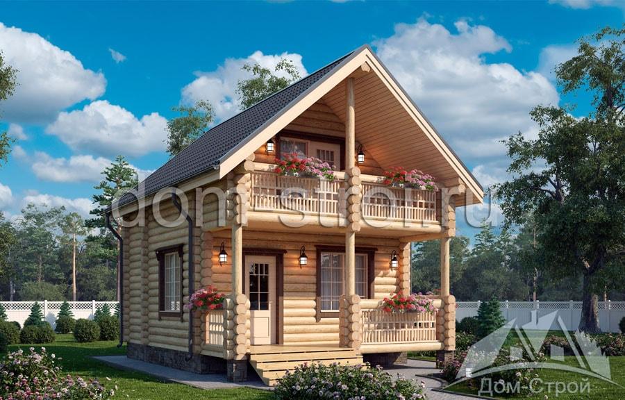 Проекты рубленных домов: рубленный дом 5.5х7.25м.