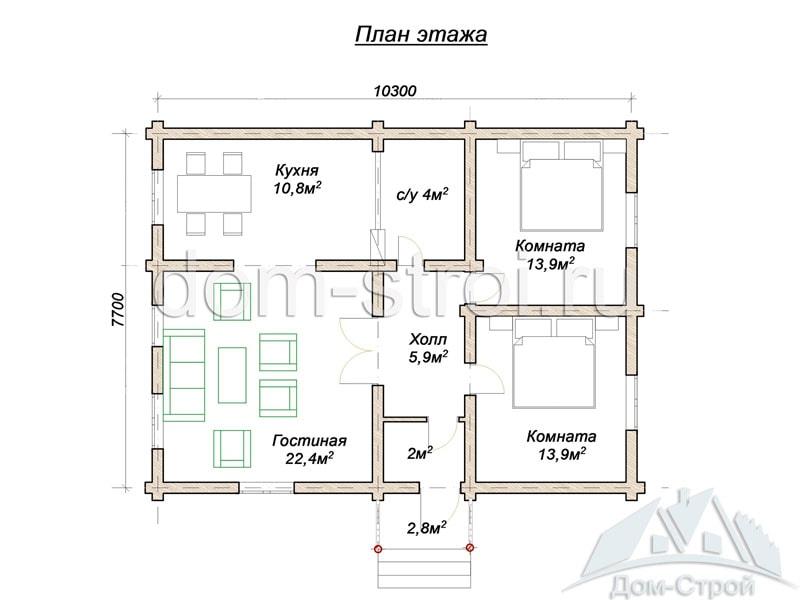 проекты одноэтажных домов 9 8