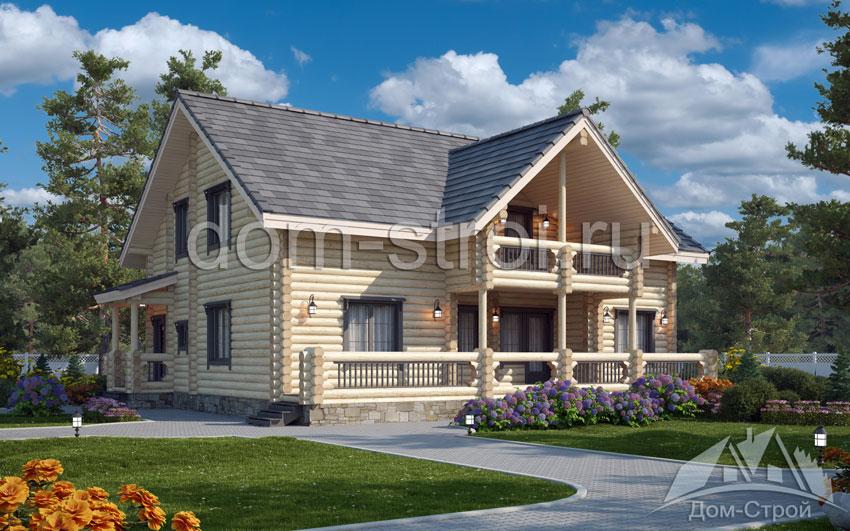 Купить дом из оцилиндрованного бревна под ключ в СПб