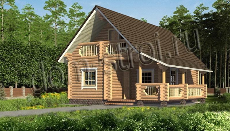 Проекты рубленых домов: дом 7.6х10м.