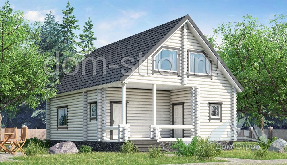 Проекты домов до 100 м с мансардой - Маленькие дома с