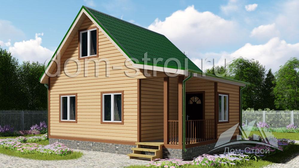 Проект загородного дома с гаражом (230 кв м), схема