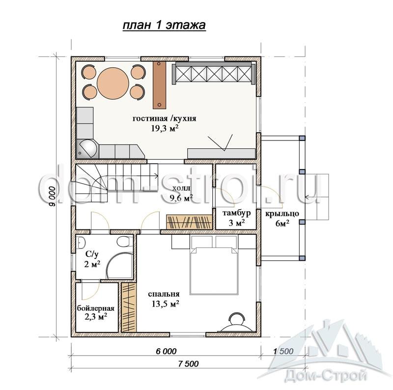 Площадь дома: 94 кв/м