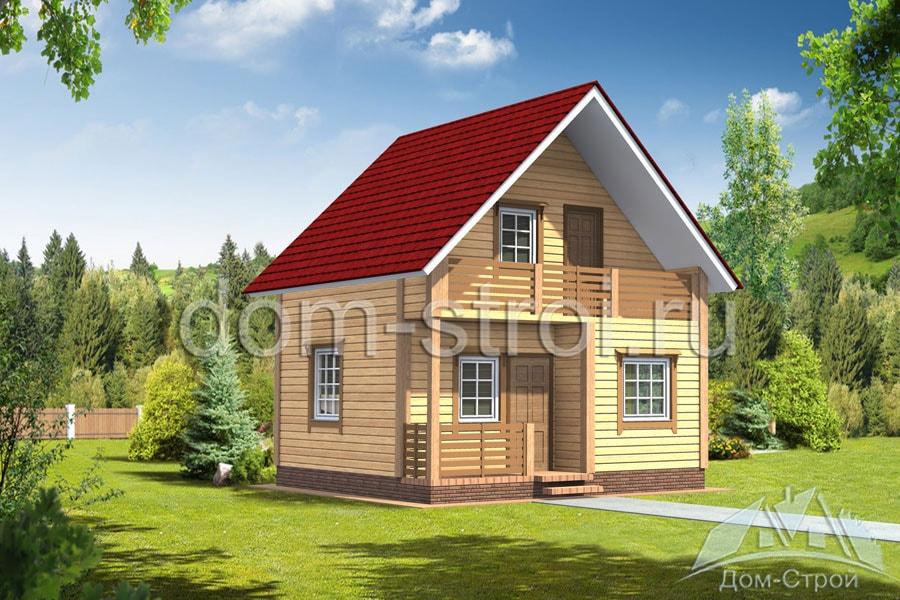Дом 6х6 из бруса с мансардой 4