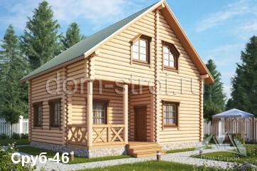 Изображение - Дома из оцилиндрованного бревна в кредит srub46m1.e6ab97c1990d7d838c2ea1fe2d97e646
