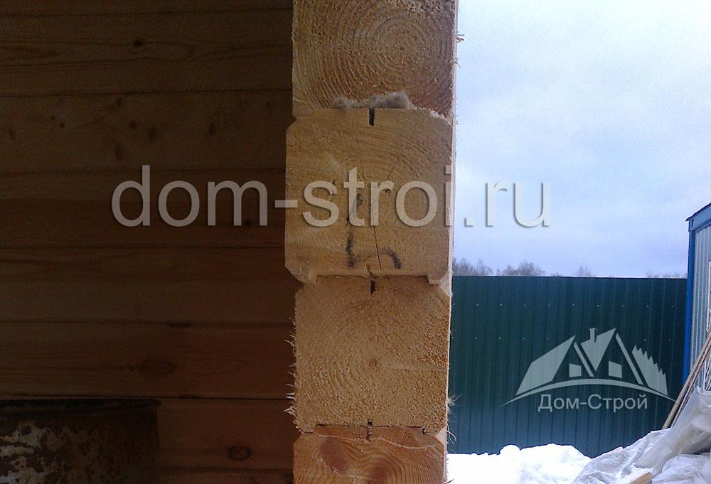 Стена из профилированного бруса