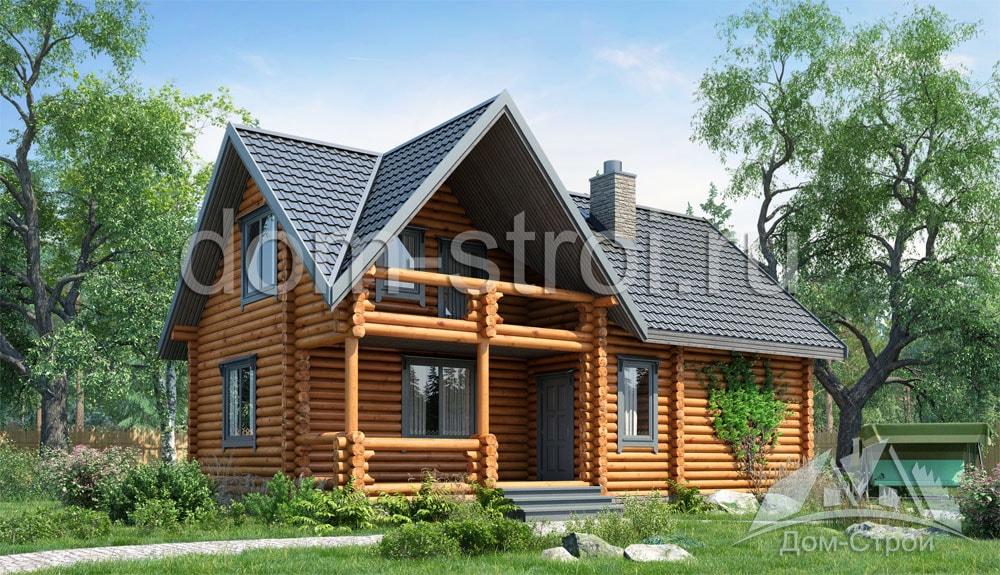 Проект небольшого дом-бани 5х6 | 575x1000