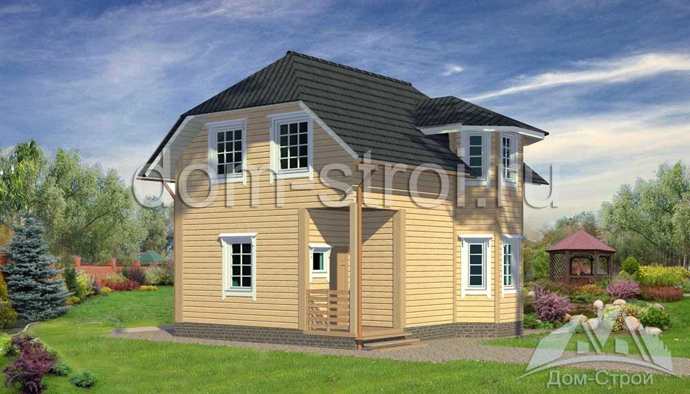 Проект: Двухэтажный дом из бруса 7х8 м. 91,5 м2 – цена ...  Дом из Бруса 7х8